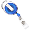 View Extra Image 1 of 2 of Clip-On Retractable Badge Holder - Translucent - Full Color