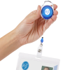 View Extra Image 2 of 2 of Clip-On Retractable Badge Holder - Translucent - Full Color