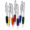 View Extra Image 1 of 4 of Curvy Stylus Twist Pen - Silver