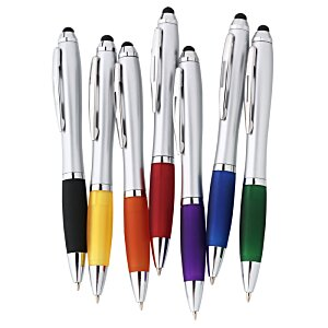 Curvy Stylus Twist Pen - Silver Image 1 of 4