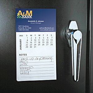 Bic Magnet with Calendar and Lined Notes Image 1 of 2