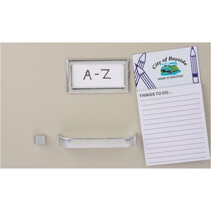 Bic Business Card Magnet with Notepad - Pencils Image 1 of 2