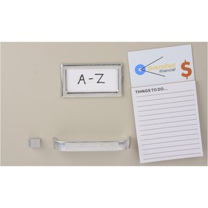 Bic Business Card Magnet with Notepad - Dollar Sign Image 1 of 2