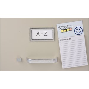 Bic Business Card Magnet with Notepad - Smiley Face Image 1 of 2