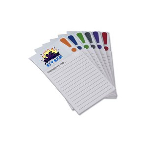 Bic Business Card Magnet with Note Pad - Exclamation Image 1 of 2