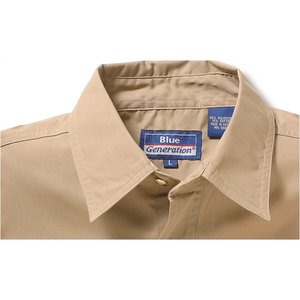 Blue Generation 2-Pocket LS Poplin Shirt-Men's-Closeout Image 1 of 3
