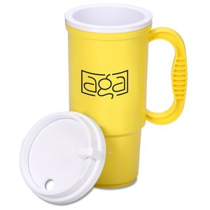Insulated Auto Mug - 16 oz. - Opaque - White Lid Image 1 of 2