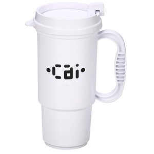 Insulated Auto Mug - 16 oz. - Opaque - White Lid Image 2 of 2