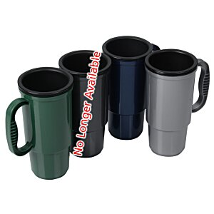 Insulated Auto Mug - 16 oz. - Metallic - Black Lid Image 1 of 1