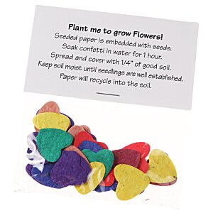 Flower Seed Multicolor Confetti Pack - Heart