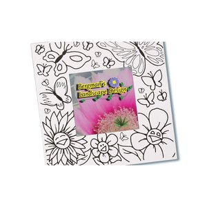 Picture Me Coloring Magnet Frame - Flowers Image 1 of 4