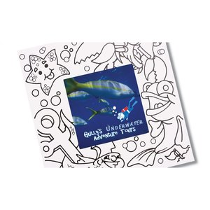 Picture Me Coloring Magnet Frame - Ocean Image 1 of 4