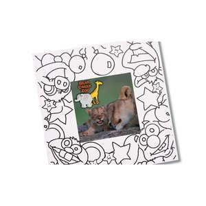 Picture Me Coloring Magnet Frame - Animals Image 1 of 4