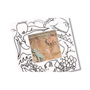 Picture Me Coloring Magnet Frame - Dinosaurs Image 1 of 4