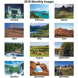 World Scenic Calendar - Spiral Image 1 of 1