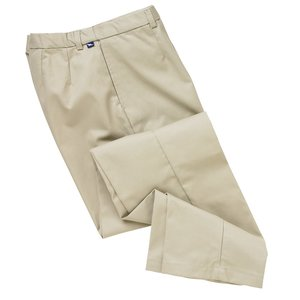 Teflon Treated Flat Front Pants - Men's
