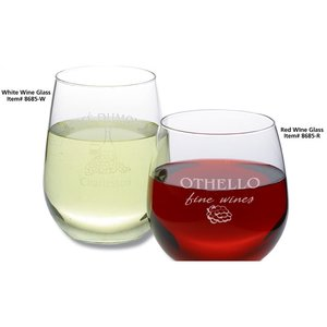 Stemless White Wine Glass Set - 17 oz. - Colored Box Image 1 of 1
