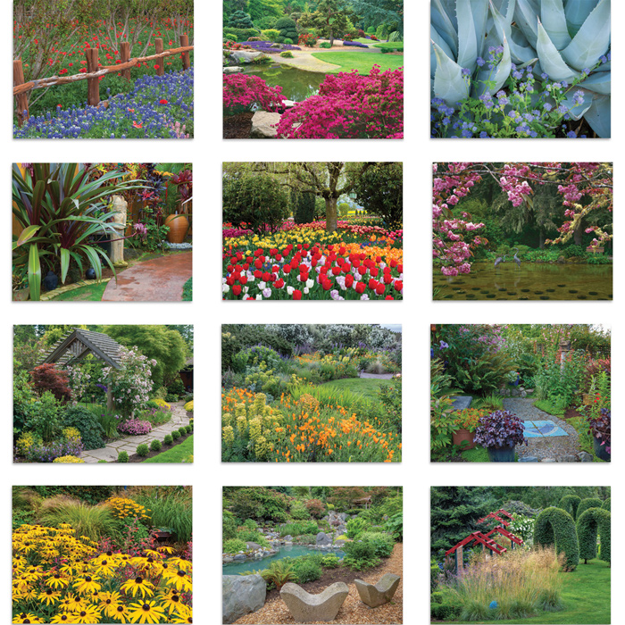 4imprint.com: Beautiful Gardens Calendar - Stapled