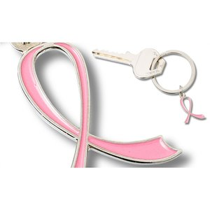 Pink Ribbon Key Ring Image 1 of 1