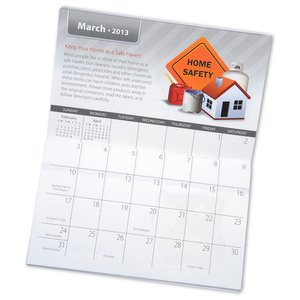 2013 Pocket Calendar & Guide - Safety - Closeout Image 1 of 2