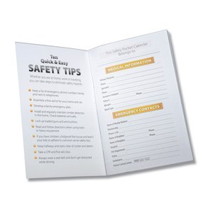2013 Pocket Calendar & Guide - Safety - Closeout Image 2 of 2