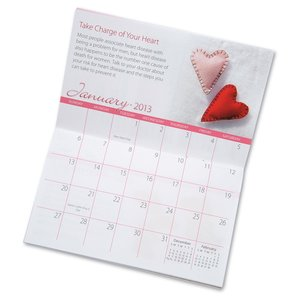 2013 Pocket Calendar & Guide-Women's Think Red - Closeout Image 3 of 3