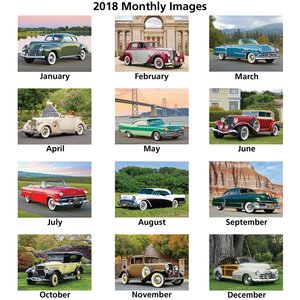 Classic Cars Calendar - Spiral Image 1 of 1