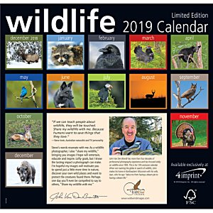 4imprint Exclusive 2018 Wildlife Calendar Image 1 of 1