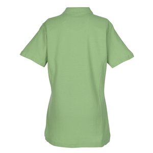 100% Combed Cotton Pique Sport Shirt - Ladies' Image 2 of 2