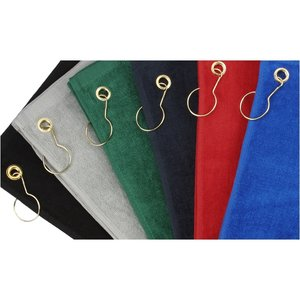 Deluxe Hemmed Golf Towel - Colors Image 2 of 2