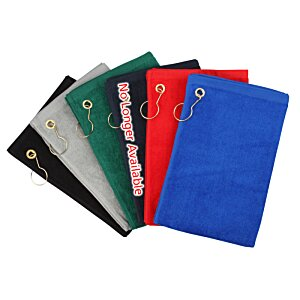 Deluxe Hemmed Golf Towel - Colors - 24 hr Image 1 of 2