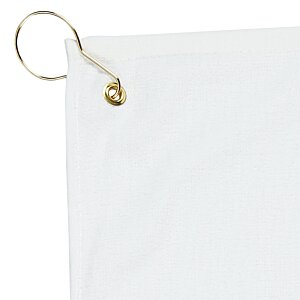 Deluxe Hemmed Golf Towel - White - 24 hr Image 1 of 1
