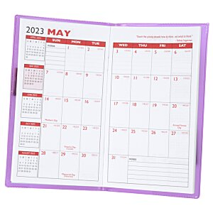 Monthly Pocket Planner w/Pen - Translucent - Academic Image 3 of 3