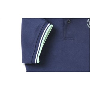 Stripe Collar Trim Pique Polo - Men's Image 2 of 2