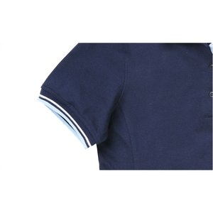 Stripe Collar Trim Pique Polo - Ladies' Image 2 of 2