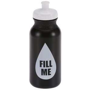 Sport Bottle with Push Pull Lid - 20 oz. - Colors - Fill Me
