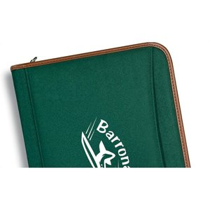 Zippered Polyester Portfolio - 24 hr
