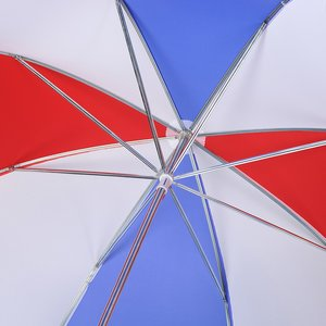 Budget-Beater Golf Umbrella - Red/White/Blue Image 1 of 3