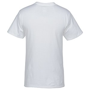 Hanes Beefy-T with Pocket - White Image 1 of 2
