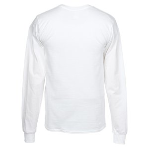 Hanes LS Beefy-T - Screen - White Image 1 of 1