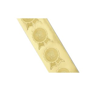 Embossed Seal by the Roll - Ribbon Scallop Edge - 1-5/16
