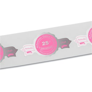 "Flat Seal by the Roll - Banner - 1-1/2"" x 3"""