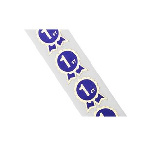 Flat Seal by the Roll-Ribbon w/Scalloped Edges-1-5/16x1-9/16