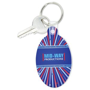 Oval Soft Key Tag - Full Color Image 1 of 1