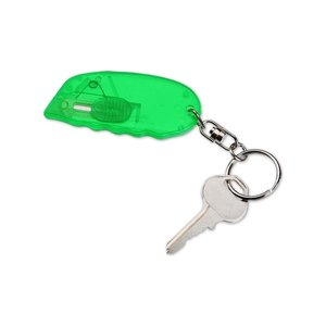Safety Cutter w/Key Ring - Translucent
