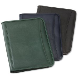 Zippered Vinyl Portfolio - Embroidered