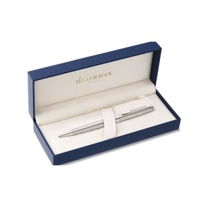 Waterman Hemisphere Stainless Pen - Chrome Trim Image 1 of 3