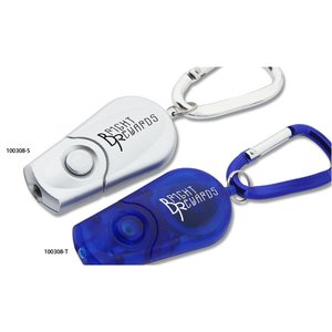 Retractable Carabiner Flashlight - Silver Image 2 of 3