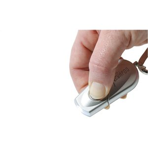 Retractable Carabiner Flashlight - Silver Image 3 of 3
