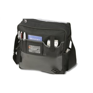 Satellite Vertical Laptop Bag - Embroidered